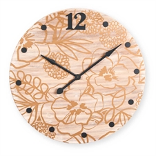 Gold Printed Floral Oversized Clock | Plum & Post