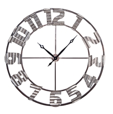Ashville Corrugated Metal Extra Large Wall Clock| Plum & Post