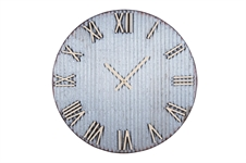 Farmers Corrugated Metal Extra Large Wall Clock | Plum & Post