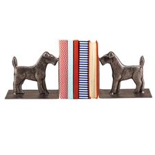 Scottie Metal Dog Bookends, Set of 2 Decorative Accent | Plum & Post