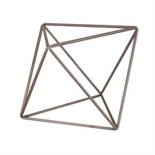 Crystalline Octahedron Sculpture, Small Decorative Accent | Plum & Post