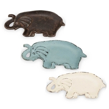 Elephant Trinket Trays, Set of 3 Decorative Accent | Plum & Post
