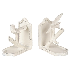 White Bird Bookends, Set of 2 Decorative Accent | Plum & Post