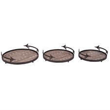 Arrow Nesting Trays, Set of 3 Metal Trays | Plum & Post