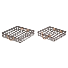 Square Metal Basket Nesting Trays, Set of 2 Decorative Trays | Plum & Post