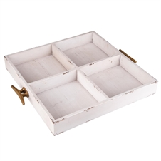4-Bin Wood Tray | Plum & Post