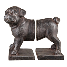Pug Book Ends, Set Of 2 | Plum & Post