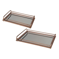 Naturalist Mirror Trays, Set Of 2 | Plum & Post