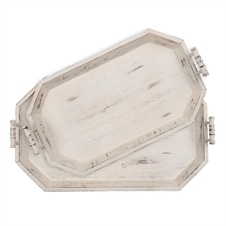 White Washed Nested Trays, Set Of 2 | Plum & Post