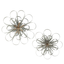 Ribbon Wall Flowers, Set Of 2