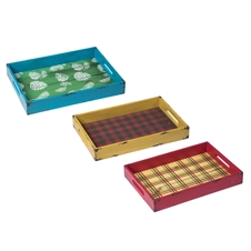 Cabin Retreat Trays, Set Of 3