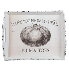 Love You From My Head Tomatos Tray, Decorative Tray | Plum & Post