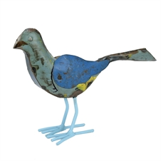 Recycled Metal Bird, Small Figurine | Plum & Post