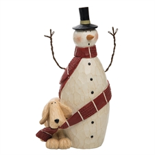 Dog Wrapping Snowman