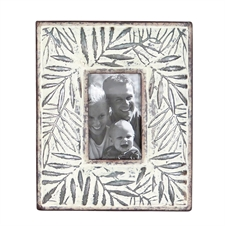 4X6 Etched Leaf Photo Frame, Small Picture Frame | Plum & Post
