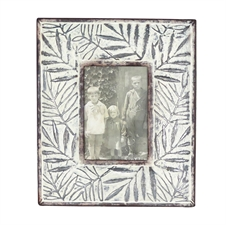 5X7 Etched Leaf Photo Frame, Large Picture Frame | Plum & Post