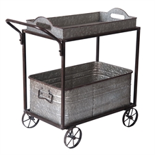 Galvanized Push Cart | Plum & Post