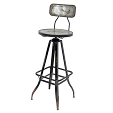 Winston Swivel Bar Stool, Metal Accent Furniture | Plum & Post