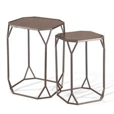 Crystalline Nested Side Tables, Set of 2 Tables | Plum & Post