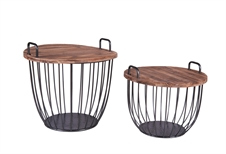 Round Basket Tables, Set of 2 Tables | Plum & Post