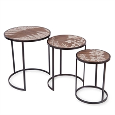 Printed Fern Tables, Set of 3 Tables | Plum & Post