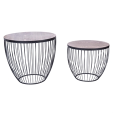 Drum Tables, Set of 2 Accent Tables | Plum & Post