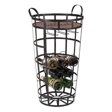 7 Bottle Manhattan Mini Bar Metal  Wine Rack | Plum & Post