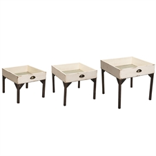 Farm Drawer Nesting Tables, Set Of 3