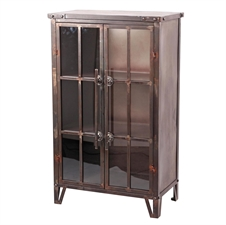 Uptown Bookcase, Metal Bookcase with Glass Doors | Plum & Post