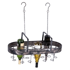 19 Bottle Hanging Wine Rack, Decorative Wine Accessories | Plum & Post
