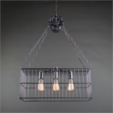 Caged Three Bulb Pendant Light | Plum & Post