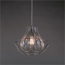 Wire & Glass Pendant Light | Plum & Post