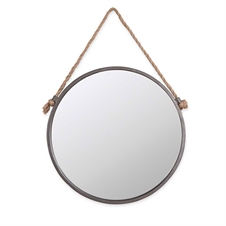 Rope & Circle Mirror, Medium Mirror | Plum & Post
