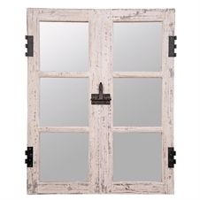 Window Pane Mirror, Wood Decorative Mirror | Plum & Post