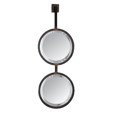 Double Round Wall Mirrors Small | Plum & Post
