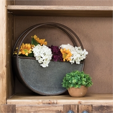Round Metal Flower Pot, Small Planter | Plum & Post