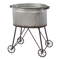 Galvanized Tub On Stand