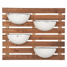 4 Enamel Pot Wall Planter