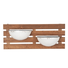 2 Enamel Pot Wall Planter