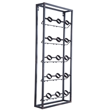 Metal Grid Wall Wine Rack | Plum & Post