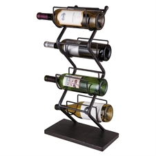 4 Bottle Iron Wine Holder, Wine Rack | Plum & Post
