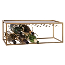 5 Bottle and Wine Glass Holder | Plum & Post