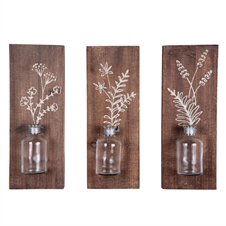 Fern Wall Vases, Set of 3 Decorative Wall Art | Plum & Post