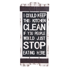 Stop Eating In Kitchen Wall Art | Plum & Post