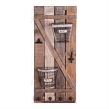 Barn Door Hook & Basket Wall Art | Plum & Post