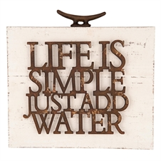 Life Is Simple Add Water Wall Art | Plum & Post