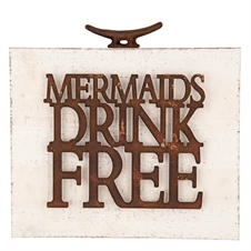 Mermaids Drink Free Wall Art
