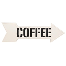 Coffee Direction Sign