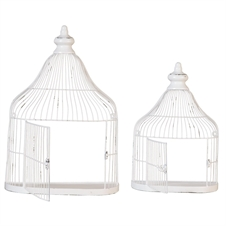 Wall Birdhouse Shelves, Set Of 2