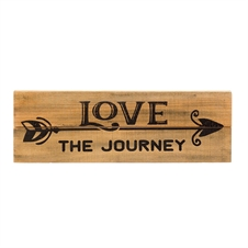 Love The Journey Wall Plaque